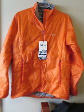 Mens New Rab Ether X Jacket Size Medium Color Satsuma