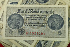 5 REICHSMARK NAZI GERMANY CURRENCY GERMAN BANKNOTE NOTE MONEY BILL SWASTIKA WW2