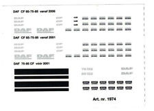 Daf - 65/75/85CF en Daf CF - Aufkleber 1974  274 1:50