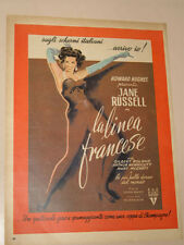 JANE RUSSELL FILM LA LINEA FRANCESE=ANNI '50=PUBBLICITA=ADVERTISING=299