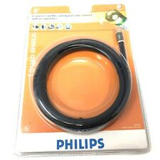 PHILIPS PH5202 6 Ft. Quad Shield RCG 2.3 GHz Coaxial Cable Black