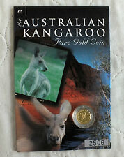 Australie 2001 $5 kangaroo nugget 1/20oz. 9999 gold proof finition