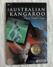 AUSTRALIA 2001 $5 KANGAROO NUGGET 1/20oz .9999 GOLD PROOF FINISH