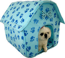 New Dog Cat Pet Soft Cozy House Collapsible Pet  House 3017 Blue-153