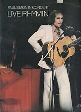PAUL SIMON live in concert LIVE RHYMIN UK 1974 EX LP