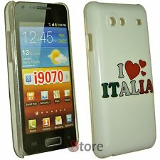Cover Custodia Per Samsung Galaxy Advance i9070 I Love Italia + Pellicola