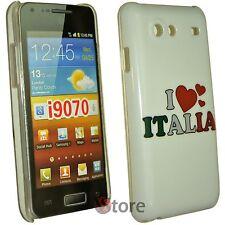 Cover Custodia Per Samsung Galaxy Advance i9070 I Love Italia + Pellicola