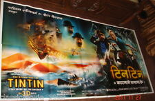 "THE ADVENTURES OF TINTIN (2011) SIX SHEET GIANT POSTER 52"" X 106"""