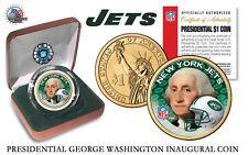 NEW YORK JETS NFL USA Mint PRESIDENTIAL Dollar Coin VELVET BOX AND COA  *NEW*