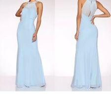 New Quiz Chiffon Sweetheart Embellished Neck Occaion Maxi Dress Size 6 #b37