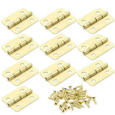 10Pcs Kitchen Cabinet Door 4 Holes Drawer Hinges Jewelry Box Furniture 18x16mm