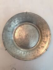 Antique Hand Chased Tinned Ottoman Copper Plate Rare 18th Century