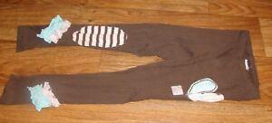 NAARTJIE KIDS LITTLE GIRLS SIZE LARGE (6) ADORABLE BROWN RUFFLED LEGGINGS