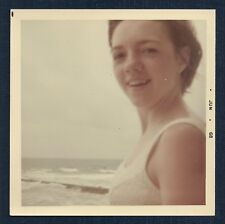 Closeup of Swimsuit Girl at the Beach Vintage Photo 1960's