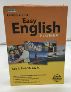 Easy English Platinum Levels 1,2,3,4. See It Hear It Say It