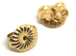 Kaedesigns,9ct Yellow Or White Gold Flower Earring Butterfly Backs 5.5mm Or 9mm