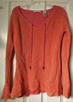 Womens Crazy Horse Liz Clairbourne Net Shirt Cover Up Size XL Long Sleeve Boho