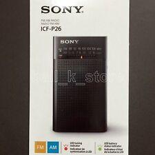 Genuine Japan Sony Portable Compact Pocket Radio 2 Band FM/AM ICF-P26