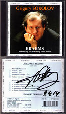 Grigory SOKOLOV Signed BRAHMS 4 Ballades Piano Sonata 3 Opus111 CD Klaviersonate
