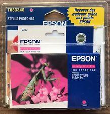 EPSON STYLUS PHOTO 950 MAGENTA Original Ink Print Cartridge T0333 - New Sealed