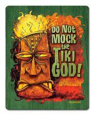 Vintage Styled Metal Sign Do Not Mock The Tiki God Tiki Bar Decor Humor