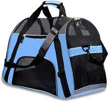 Large PetLarge Pet Travel CarPet Carrier Soft Sided Large Cat Dog Comfort blue