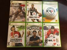 Lot of 6 Sports Titles Xbox 360! Tiger Woods ++