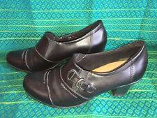 Black Full Shoe Heels Size 5 Buckle Earth Spirit