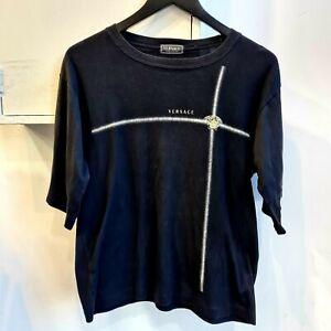 VERSACE Jeans Couture Medusa Head Stripe T-Shirt