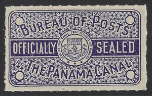 Officially Sealed Possession Stamp From Canal Zone OX3