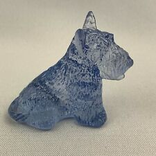 Boyd Art Glass Duke the Scottie Dog - Sky Blue