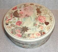 graphic old holiday Christmas New Years tin