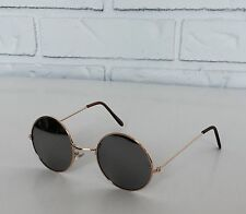 New Shades Retro Sunglasses Gold Full Mirrored John Lennon Lunette Round Frame