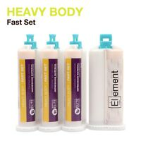 Element HEAVY BODY VPS PVS Dental Impression Material FAST Set 50ML Cartridges