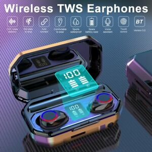 TWS Bluetooth 5.0 Kopfhörer Wireless Stereo In-Ear Ohrhörer mit 8000 mAh Ladebox
