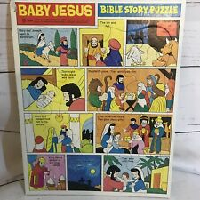 Vintage Baby Jesus Bible Story Puzzle By Standard Complete