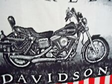 Harley Davidson American Flag USA Authorized Throw Blanket Motorcycle Vintage
