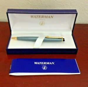 WATERMAN EXPERT II SLATE BLUE GOLD BALLPOINT PEN. PARIS FRANCE. UNUSED. W/BOX