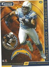 SHAWNE MERRIMAN SAN DIEGO CHARGERS MARYLAND TERPS FATHEAD TRADEABLES 2008 A17