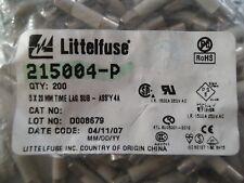 Littelfuse 215004-P 5x20mm Time Lag SUB 4A Patronensicherung mit Keramikkörper