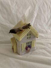 Cute Bird Wool House Fabric square Tissue Box Cover handmade