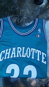 Alonzo Mourning Signed Charlotte Custom Jersey