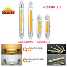 Dimmable 6W/12W R7s COB LED 78mm/118mm Security Light Replaces Halogen Bulbs UK
