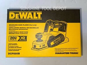 NEW Dewalt DCP580B 20 volt XR Cordless Brushless 3 1/4 Planer TOOL 5/64 Cutting