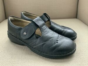 Finn Comfort Aquila Black Leather Mary Jane Style Comfort Shoes EUR 40
