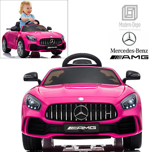 Mercedes Benz Licensed AMG GTR Ride On Car with Remote Control Music Toy 12V
