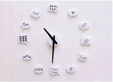 DIY Wall Clock Modern Large Draw Your Own Icons Home Interior Decoration Gift