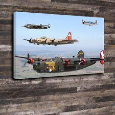 "US WW2 Bombers Printed Box Canvas A1.30""x20""-Deep 30mm Frame aircraft airplane"