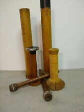 Vintage lot of 6 Antique Wooden Thread Bobbin Mill Textile Spools.