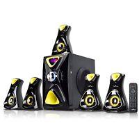 BLUETOOTH BeFree SOUND BFS-610 5.1 CHANNEL SURROUND SOUND SPEAKER SYSTEM USB SD